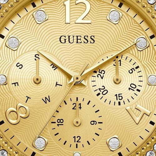relógio guess feminino dourado strass original 92690lpgsda2