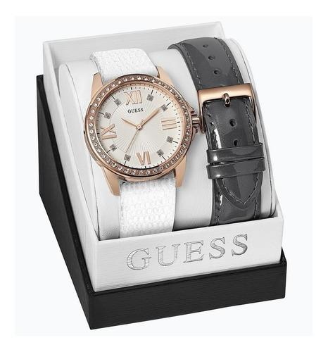 relógio guess feminino kit pulseira 92610lpgbrc1 w0655l1