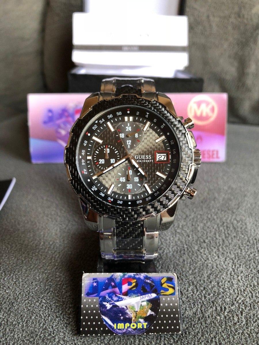 c142dceffa7 Relogio Guess Iconi W1046g1 Carbon Original Selo De Ipi - R  599