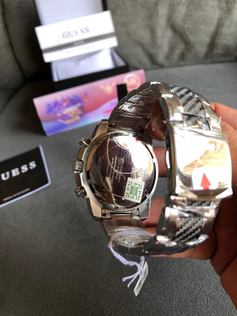 cb8a205ead9b2 Relogio Guess Iconi W1046g1 Carbon Original Selo De Ipi - R  599