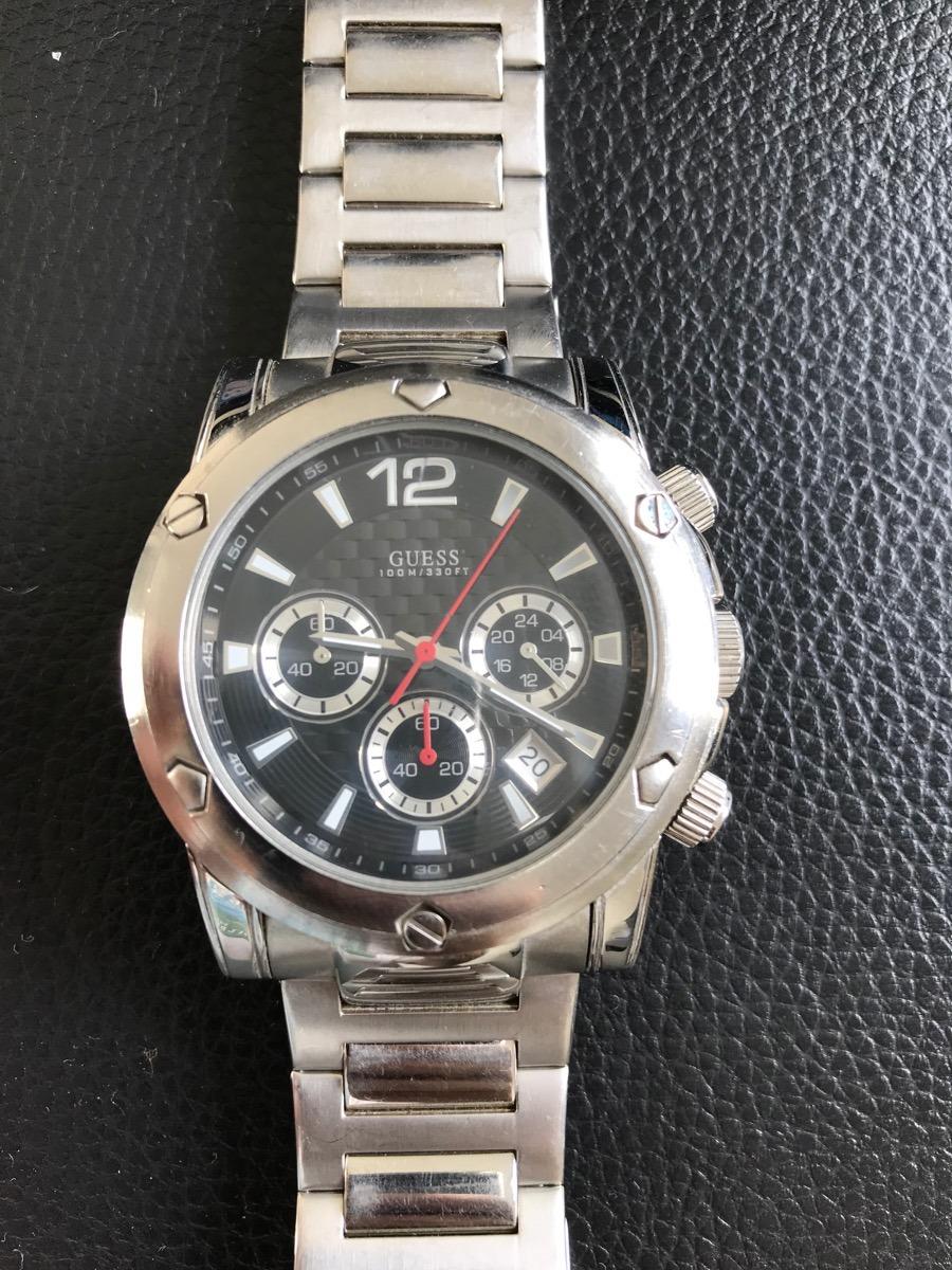 b09f2b74540 Relógio Guess Masc Prata Original -u15035g2 - Frete Grátis - R  400 ...