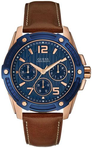 relógio guess masculino couro 92567gpgsrc1