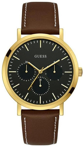 relógio guess masculino couro -  92679gpgddc1