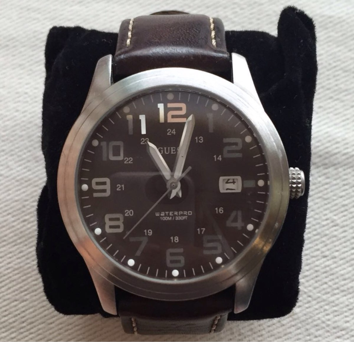 6896fe6fd62 relógio guess masculino - marrom. Carregando zoom.