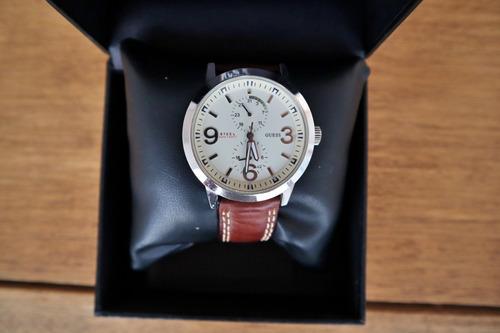 relógio guess masculino pulseira de couro usado