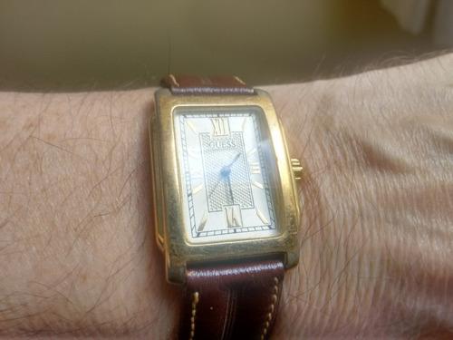 relógio guess vintage1996 mov t diamond retangular