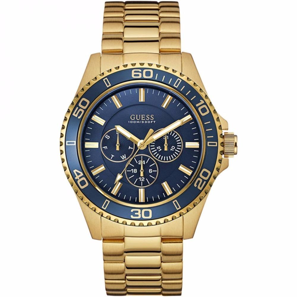 d57ee60790d Relogio guess dourado azul original em mercado livre jpg 1000x1000 Relogio  dourado guess