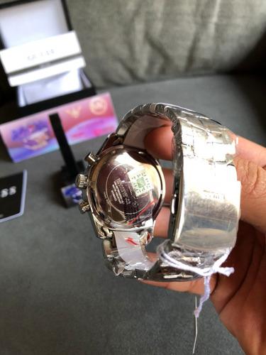 relogio guess w0969g3 prata 100% original com selo ipi