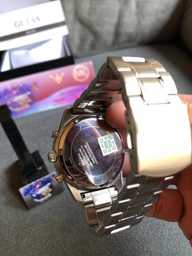 relogio guess w1106g1 prata 100% original com selo ipi