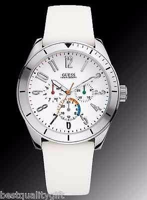 relogio guess watch, white silicone strap - 1001coisas