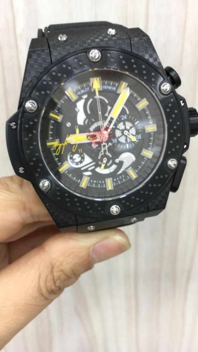 309a7bf9c05 relógio h-blot king power ayrton senna. Carregando zoom.