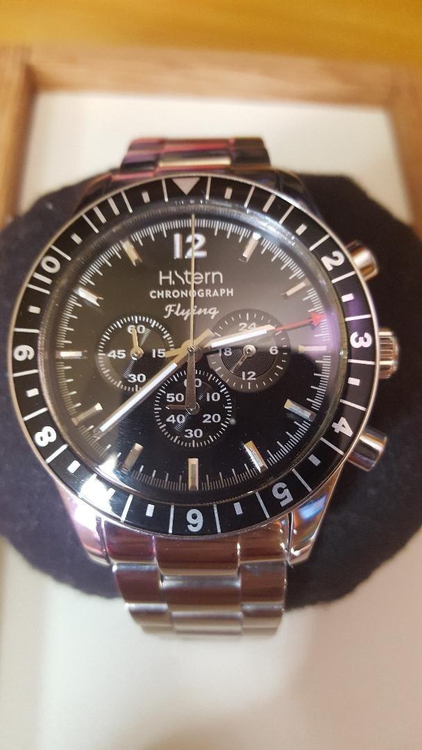 8f6b65bc28c relógio h stern flying chronograph novo. Carregando zoom.
