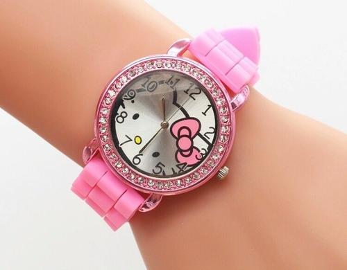 3dfc74ef0d9 Relógio Hello Kitty Feminino Infantil C  caixa Frete Grátis - R  120 ...