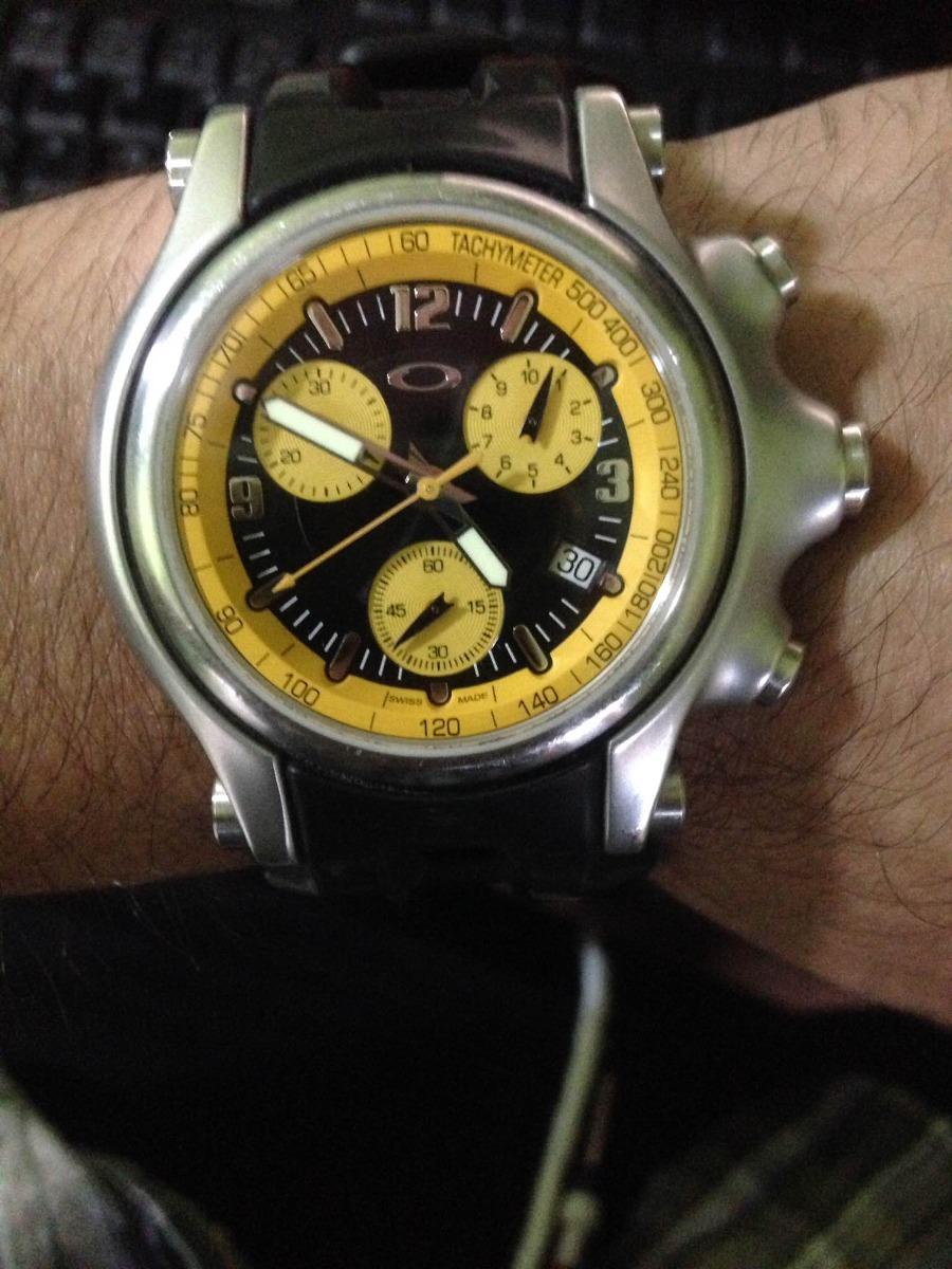 fff21f8e294 relógio holeshot oakley yellow. Carregando zoom.