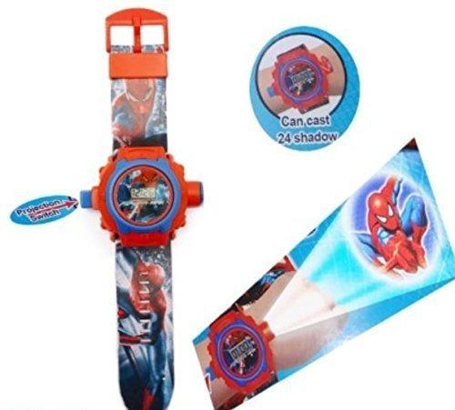 882691d498e Relogio Homem Aranha Projetor De Luz Com 24 Imagens Infantil - R  90 ...
