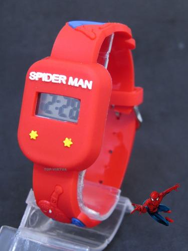 relógio homem aranha quadrado antialérgico prova d'água c336