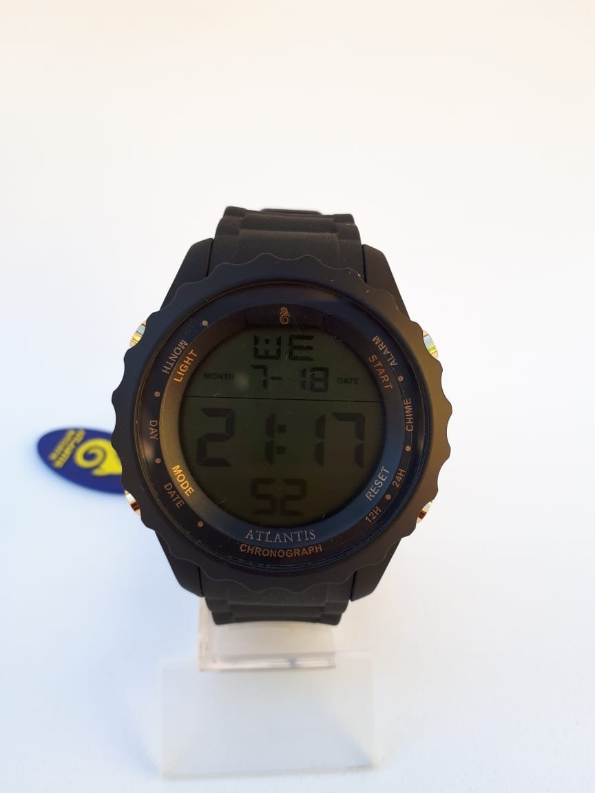 8d171509b74 relógio homem esporte digital preto borracha atlantis a7457. Carregando zoom .
