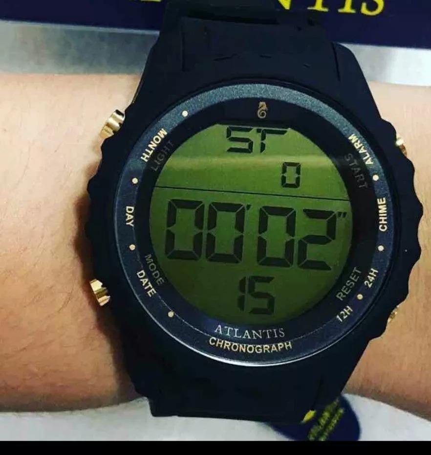 2bb3f7dbb00 Relógio Homem Esporte Digital Pulseira De Borracha Original - R  57 ...