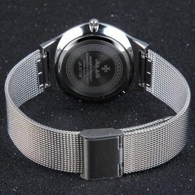 relogio homem quartz rodada dial aço strap net