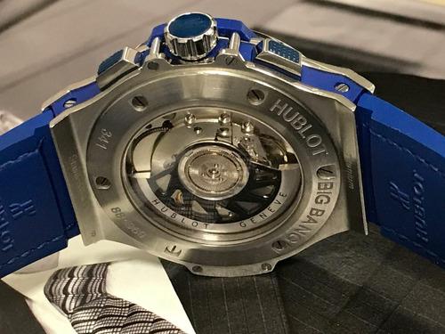 relógio hublot azul big bang automático
