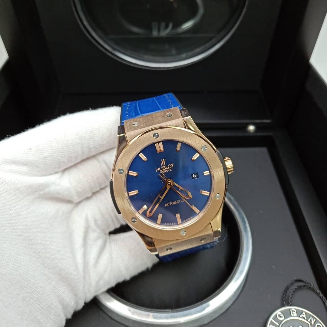 7d311792dd3 relógio hublot classic fusion big bang geneve rose blue. Carregando zoom.