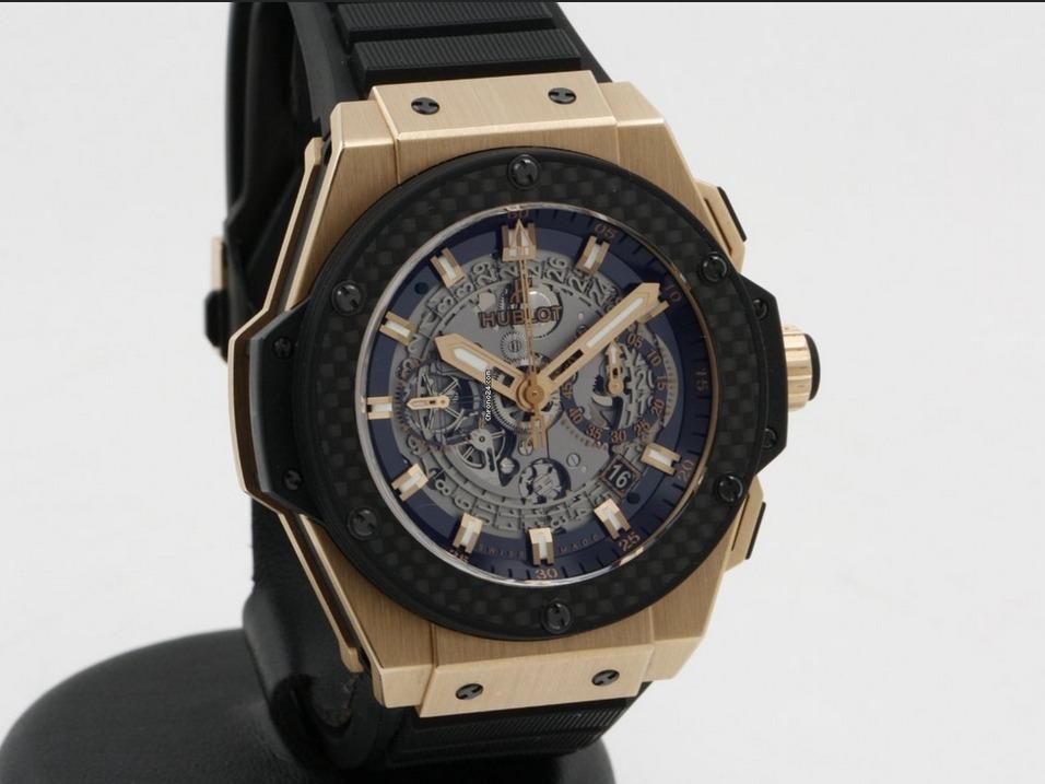3f7a0edbfec relógio hublot kingpower gold carbon - cronograph fullset. Carregando zoom.