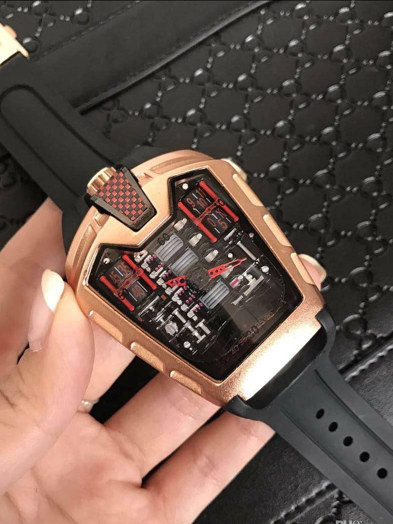 45f11eecf4e Relógio Hublot La-ferrari Mp-05 Maquina Luxo + Caixa - R  350