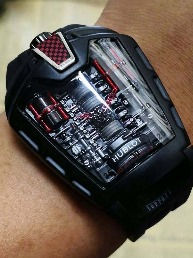 bcbaf00e5b9 Relógio Hublot Laferrari Mp-05 Full Metal + Caixa Luxo - R  299