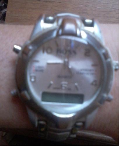 relógio hugo boss analógico/digital water resistent unissex