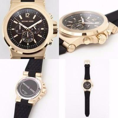 e7986521e870 Relógio I8 Michael Kors Mk8325 Preto Com Dourado Original - R  335 ...