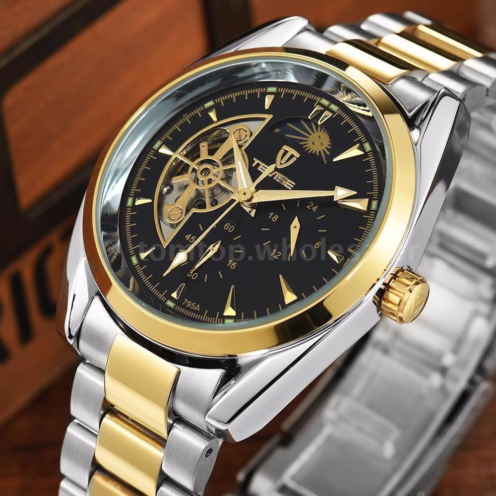 8f37f64a339 Relógio Importado Tevise Sol lua Turbilhão Original Oferta - R  189 ...