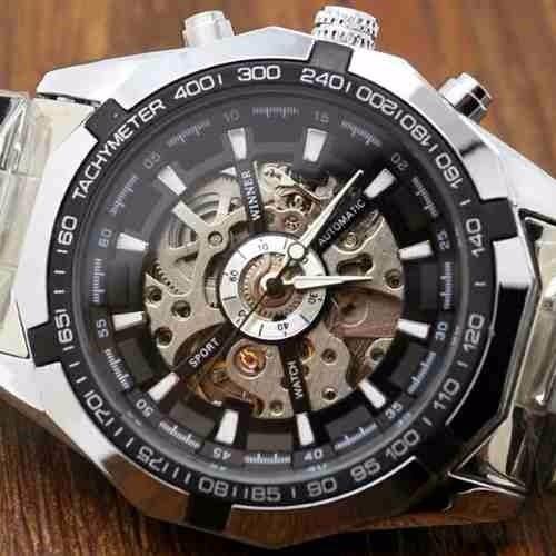 faf7265edd0 Relógio Importado Winner Skeleton Automatico -100% Original - R  149 ...