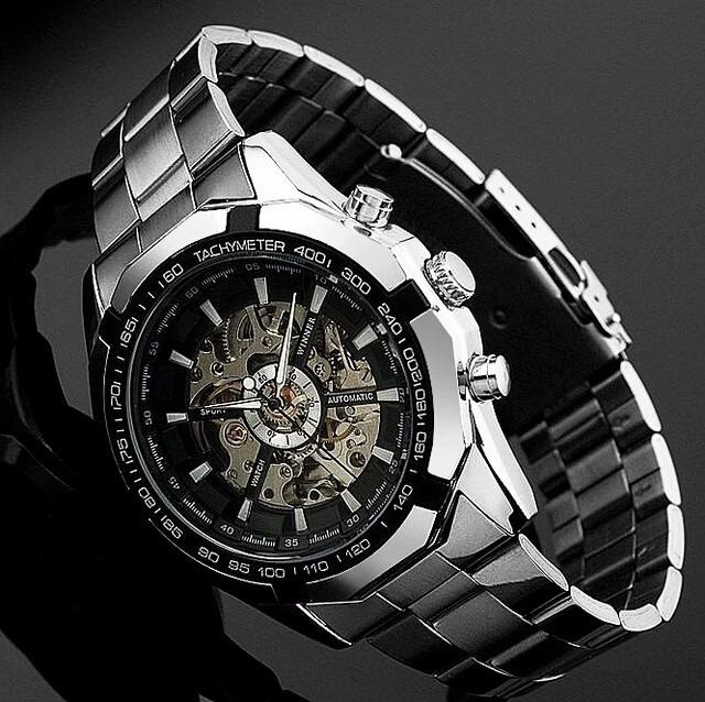 19e479495ce Relógio Importado Winner Skeleton Automático Super Oferta - R  190 ...