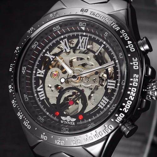 c81bebc7ea8 Relógio Importado Winner Skeleton Automático Super Oferta - R  174 ...