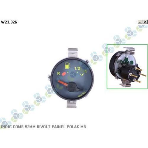 relogio indicador combustivel 52mm caminhão mercedes 1620