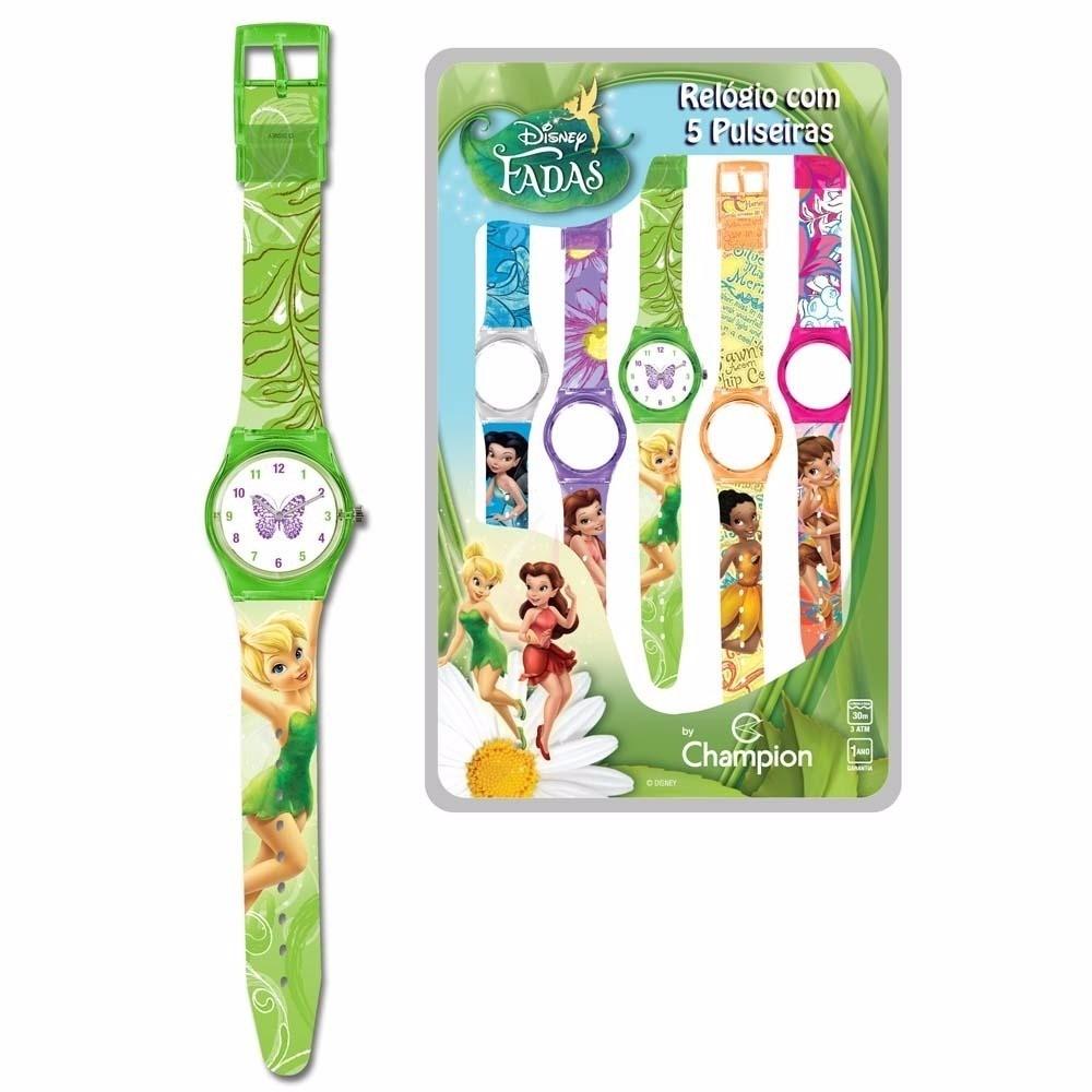 2e3b42b5efe relógio infantil analog troca pulseiras champion fadas femin. Carregando  zoom.