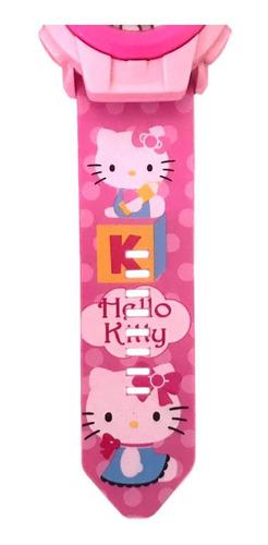 Relogio Infantil Com Projetor De Imagem Hello Kitty R 29 00 Em