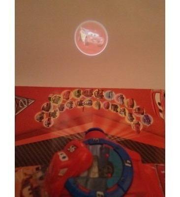 relógio infantil com projetor imagem relâmpago mcqueem