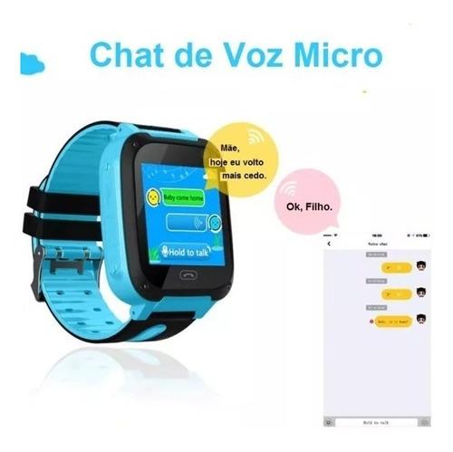 relógio infantil com rastrador gps (android/ios)