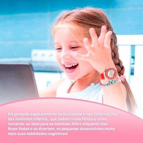 relógio infantil digital kids ajustável + pulseira ri16