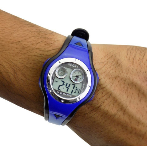 relógio infantil digital kids ajustável ross20