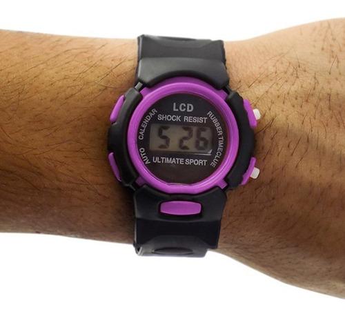 relógio infantil digital kids ajustável ross88