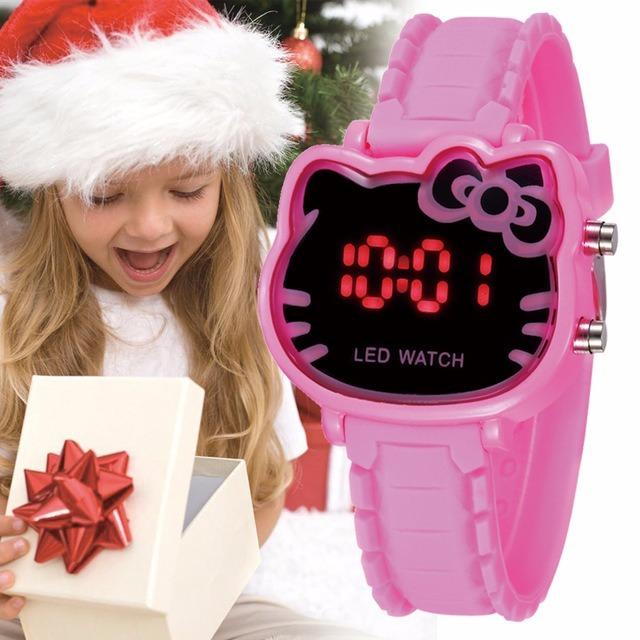 0470481ad Relógio Infantil Digital Menina Hello Kitty - R$ 52,00 em Mercado Livre