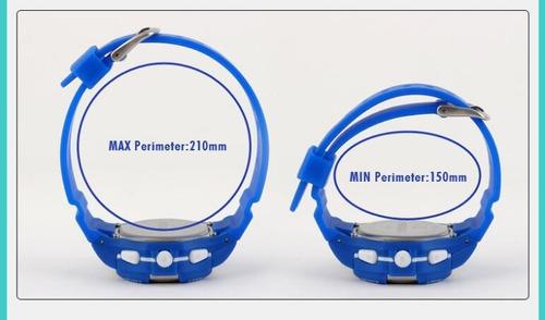 relógio infantil digital skmei 1077 azul  rosa ou preto