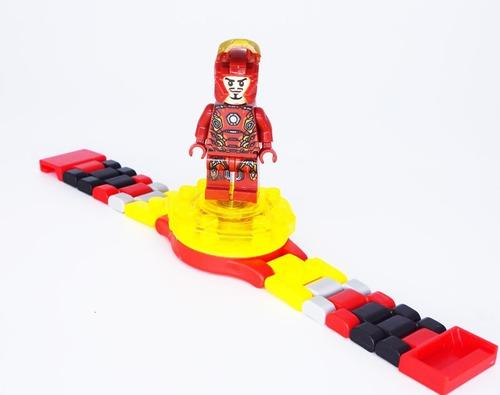 relógio infantil do homem de ferro compatível lego