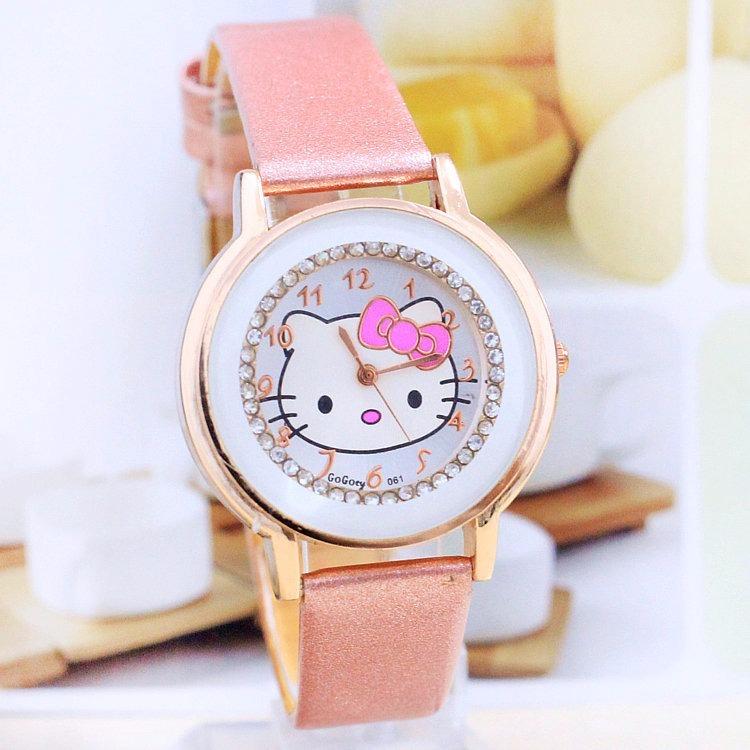 add4a893e18 Relógio Infantil Hello Kitty Frete Gratis Menina Rosa - R  64