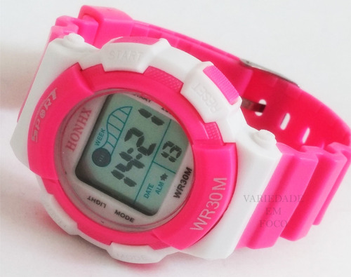 relógio infantil honhx  com caixinha luz de led, alarme