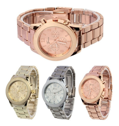 relógio infantil / juvenil unisex geneva pulseira de aço