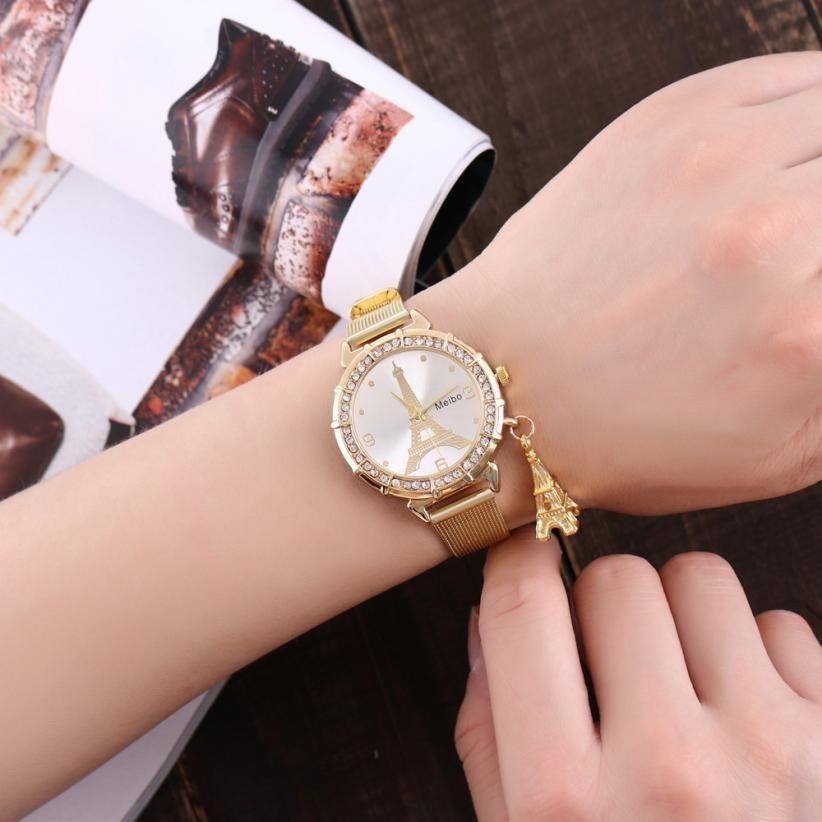 782ec45b250 Relógio Infantil Luxo Meninas Com Pingente Torre Eiffel - R  59