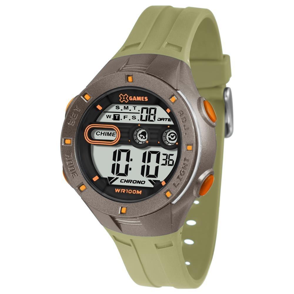 501c2cabef6b4 Relógio Infantil Masc X-games Xkppd053 Fxgx Digital Verde - R  149 ...